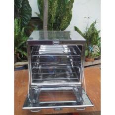 Laris 102 - Oven Stainless Steel / Oven Tangkring / Oven Kompor Terbaru - Bonus 3 Pcs Loyang - Silver