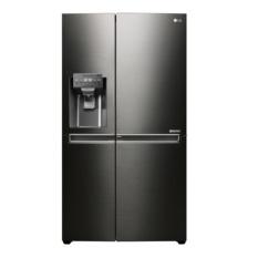 LG Kulkas Inverter Side By Side GC-J247CKAV - Dispenser - Black Stainless