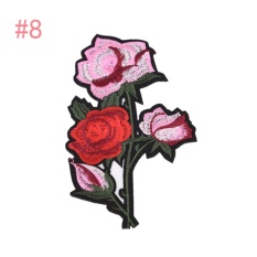 ... Rose Embroidered Sewing On Patch Flower Stickers For Clothes Applique 8 10 2x18cm