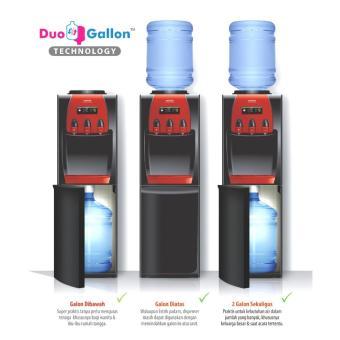 Sanken - Dispenser Galon Atas Bawan Xatria HWD-Z88- Hitam
