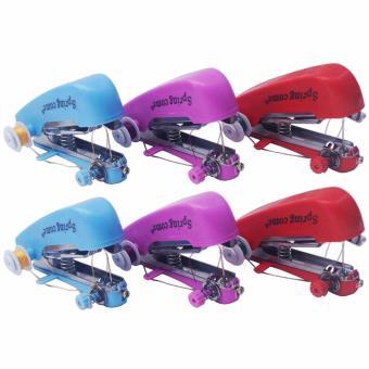 Yangma Paket 6 Buah Mesin Jahit Mini Handheld Sewing Machine (Multicolor)