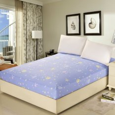 150*200cm 100% Cotton Bed Sheet Fitted Sheet Mattress Protector Mattress Cover Bed Covers Bedspread - Intl