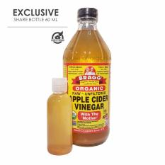 Bragg Apple Cider Vinegar ( Cuka Apel ) - 60 Ml