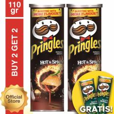 [Buy 2 Get 2 Free] Pringles Hot Spicy 110gr Free Pringles Salt Seaweed