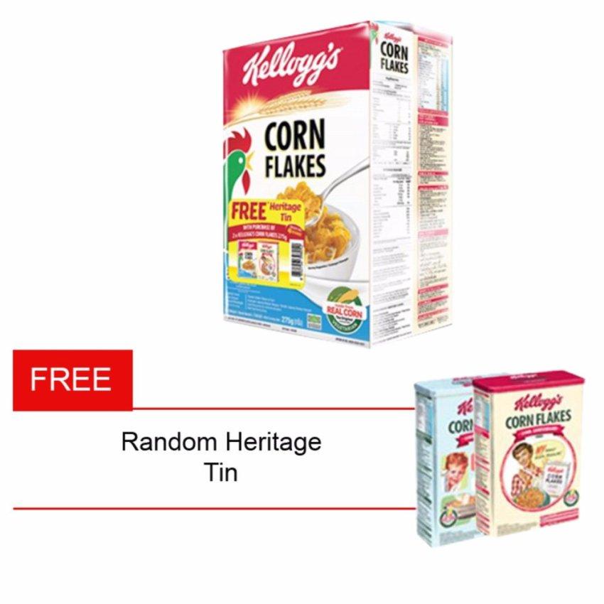 Delfi Kelloggs Corn Flakes 275gr 2pcs Free Random HeritageContainer