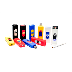 Korek Elektrik - Korek Api Lighter USB Anti - Multi Color