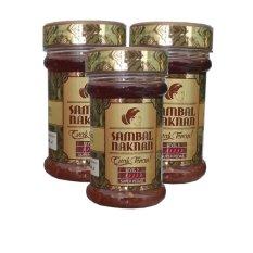 Sambal Naknan Level 5 - 3 Botol - Pedas Hot Super Cabai Probolinggo