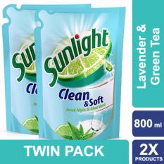Sunlight Sabun Cuci Piring Clean & Soft Refill 750ml Twin Pack