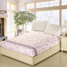 180*200cm 100% Cotton Bed Sheet Fitted Sheet Mattress Protector Mattress Cover Bed Covers Bedspread - Intl