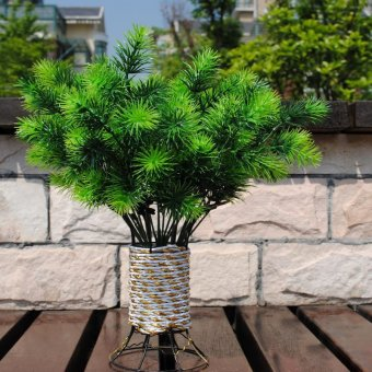 1bunch 7branches bluegrass plants pine green artificial tree home decor intl lazada indonesia. Black Bedroom Furniture Sets. Home Design Ideas