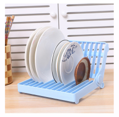 1Pcs Dish Drainer Rack Useful Organizer Accessories Drying Shelf Foldable Shelf Kitchen Storage Plate Holder
