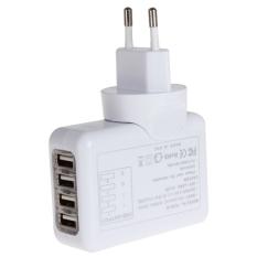 2.1.4 Port USB Universal Wall AC Charge For Home Or Travel EU Plug (Intl)