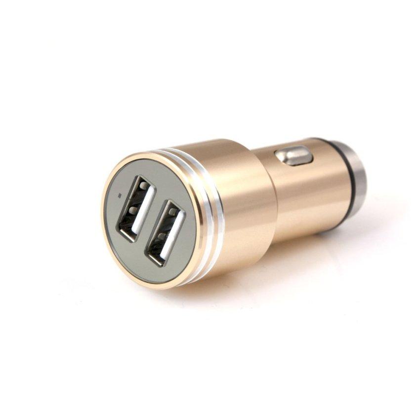 2 Pack Car Safety Hammer Aluminum Dual 12V 24V USB Multi-functional Car Charger (Rose Gold)(INTL)
