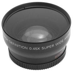 0.45.52mm Super Wide Angle Macro Lens For Nikon 18-55mm 55-200mm 50mm (Black)
