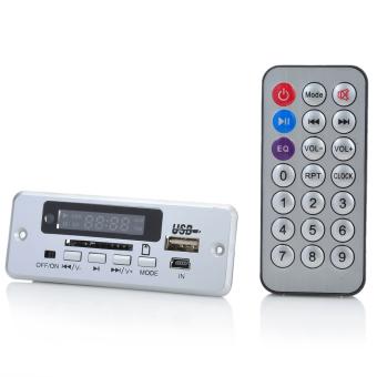 """1.0"""" LED MP3 Player Module W / FM / Remote Controller / USB / Mini USB / SD Slot - Silver (5V)"""