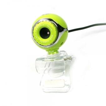 1.3 MP Tadpole Shaped USB CMOS PC Webcam Web Camera With Clip (Green)