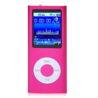 "1.8"" 8GB MP3 MP4 Slim Digital LCD Screen FM Radio Music E-book Video Player Hot Pink Free Shipping"
