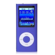 "1.8"" 8GB MP3 MP4 Slim Digital LCD Screen FM Radio Music E-book Video Player Purple Free Shipping"