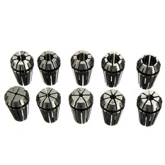 10Pcs ER16 Spring Collet Set For CNC Milling Lathe Tool