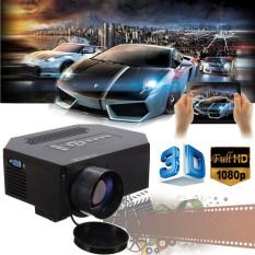 1200 lumen HD 1080P rumah Cinema 3D HDMI USB LED LCD proyektor Mini permainan Video (putih)