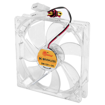 12cm Mini Quiet Clear Shell Colorful LED 4 Pin Connector Computer Desktop PC Case CPU Cooler Cooling Fan - Intl
