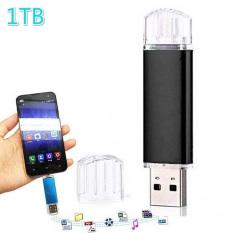 1TB Flash Drive U Disk OTG Dual USB Micro USB Memory Stick For Android PC (BLACK)
