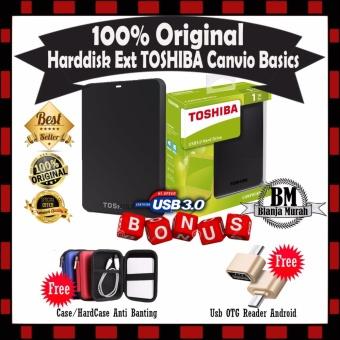 Toshiba 1TB Canvio USB 3.0 Portable Hard Drive. Source · 1TB HDD Toshiba Canvio Basic Harddisk External - Black - GRATIS Hard Case Antishock Shockproof &