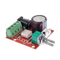 2*10W Dual Channel Hi-Fi Audio Stereo Amplifier Board PAM8610 D Class 12.1Pcs (Red) (Intl)