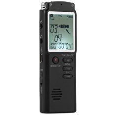 2 In 1 T60 Professional 8GB Time Display Recording Digital Voice / Audio Recorder Dictaphone MP3 Player Grabadora - Intl