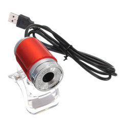 2 Pcs USB 50MP HD Webcam Web Cam Camera 360 Degree For Computer Laptop PC Tablet New Red - Intl