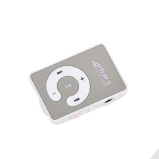 2016 NEW Mini Clip Mp3 Player / Sport Mirror Mp3 SD / TF Card C Button MP3 Music Media (White)