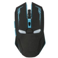2400DPI G5 6D USB 6 Buttons Optical Wireless Gaming Mouse Luci A LED PC Black