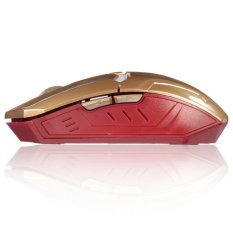 2400DPI G5 6D USB 6 Buttons Optical Wireless Gaming Mouse Luci A LED PC Gold - Intl