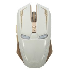 2400DPI G5 6D USB 6 Buttons Optical Wireless Gaming Mouse Luci A LED PC White (Intl)