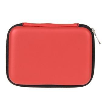 2,5 inci Universal Hard Drive eksternal Disk yang kabel USB bawaan Case penutup tas kantong untuk PC Tablet merah - International