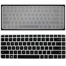 2pcs For HP 14inch Laptop Keyboard Film Suitable For Models:G4 CQ45 New DV4 430 Line 4,431, For HP1000 Protective Film (Black and Clear) (Intl)