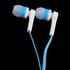 3.5mm Candy Color In-Ear Earphone Flat Cable (Blue) (Intl)