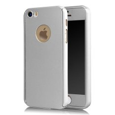 360 Degree Full Body Protect Hard Slim Case Cover with Tempered Glass for iPhone 5/