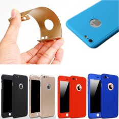 360 Degree Full Body Protect Hard Slim Case Cover with Tempered Glass for .