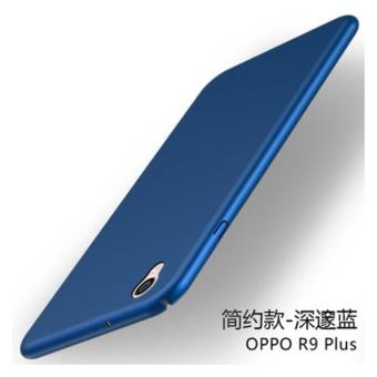 360 matte ultra tipis PC hard menutupi case untuk Oppo F1 Plus (R9 (biru