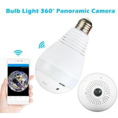 360°Wide Angle Fisheye WiFi IP Hidden Camera Bulb LED Lights 960P HD Indoor Spy Security Camera for Android IOS APP Remote View Spy Nanny Camera Support MAX 64G