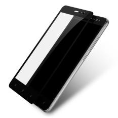 3D Full Cover Tempered Glass Warna Screen Protector For Xiaomi Redmi 4 Prime - Black