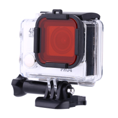4 Color Underwater Sea Diving Snap On Filter Lens For GoPro Hero 3 + 4 Housing Case (Red) - Intl