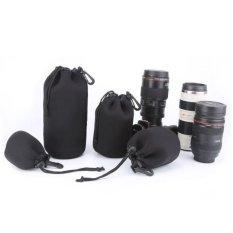 4 Pcs Size XL L M S Neoprene Soft Waterproof Bag Camera (Black) - Intl