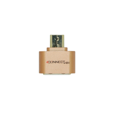 4Connect Mini USB Flash Disk OTG Converter Adapter for Android- Bronze