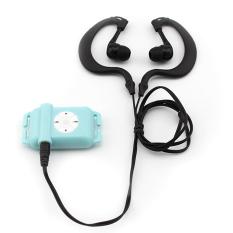 4GB Waterproof MP3 Player with Waterproof Earphones (Blue) (Intl)