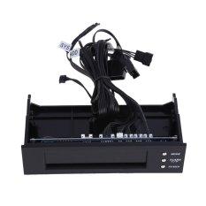 5.25 LCD Panel Fan Speed Controller CPU HD C / F Temp Temperature Sensor PC