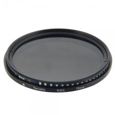 58mm Digital Variable ND Camera Lens Filter Gray & Black Border - Intl