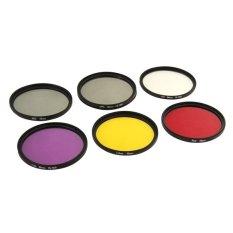 6 In 1 58mm ND2 Lens Filter + UV Lens Filter + Red Filter + FLD Filter + Yellow Filter + CPL Filter + Filter Adapter Ring Kitt For GoPro HERO4 Session (Intl)