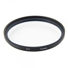 62mm Premium Digital Camera Lens UV Filter Transparent & Black Border - Intl